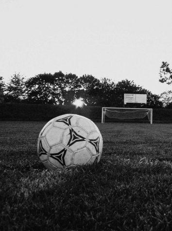 soccer ball in an open field